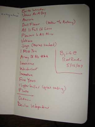 Björk @ Red Rocks (5/15/07)