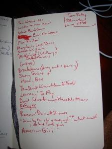 Tom Petty setlist