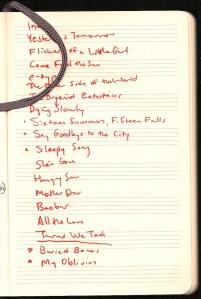 Tindersticks setlist