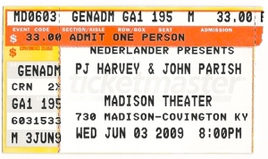 PJ Harvey ticket
