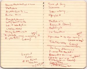 Leonard Cohen setlist