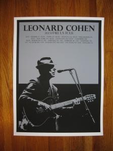 Leonard Cohen poster (front)
