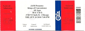 Kings of Convenience ticket