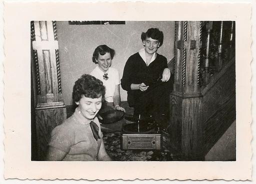 around the record player