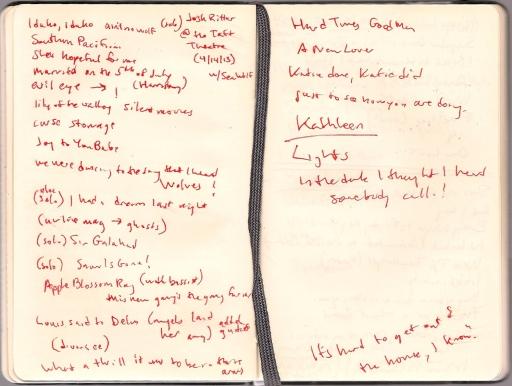 josh ritter setlist notes