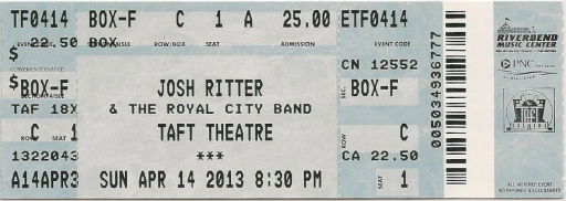 josh ritter ticket