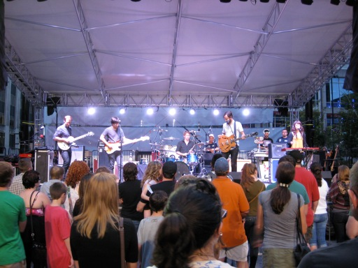 matt pond and band onstage