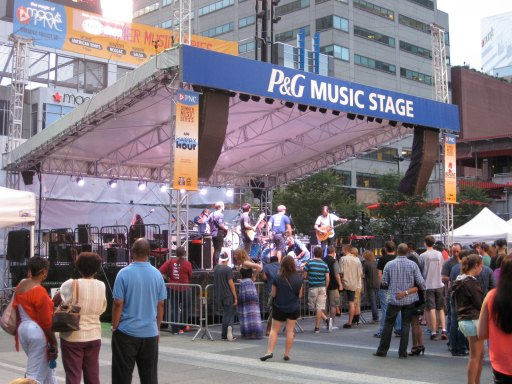 p&g music stage
