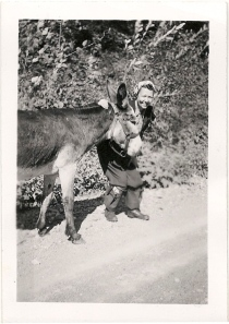 marion & a donkey (near silverton - 9/6/47)