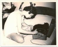 record player & black cat