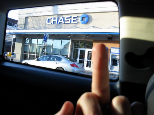 chase bank fuck off