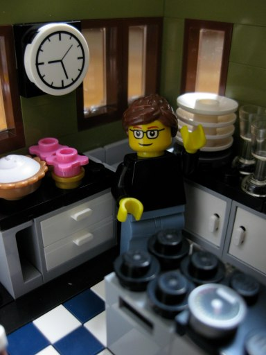lego homey in the kitchen