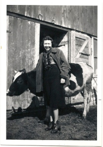 marion with cow