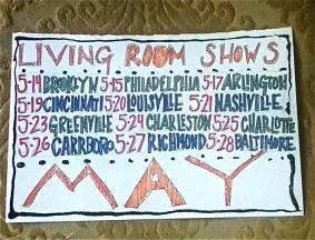 living room tour schedule