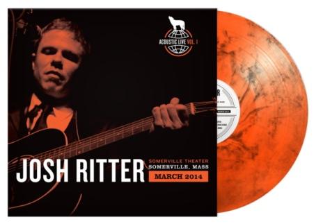marlbled orange vinyl