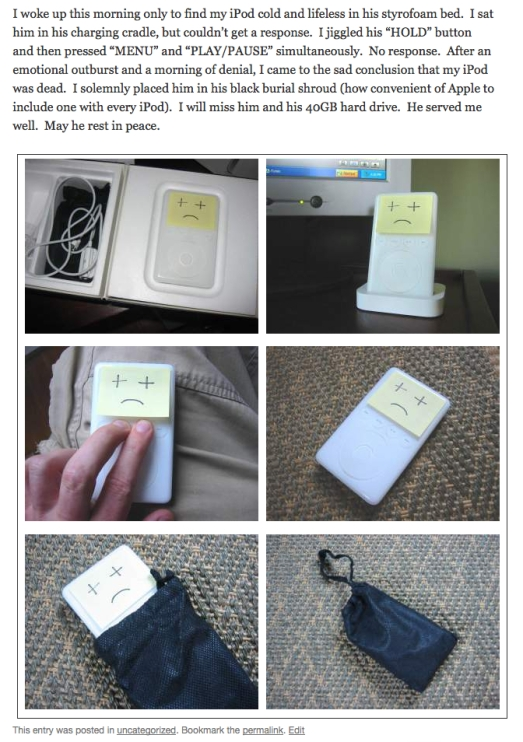 death of an ipod