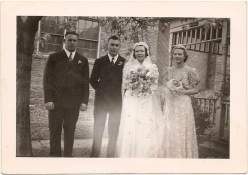 Marion and Herb's wedding party (10/5/38) (dbl)