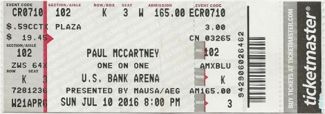 paul mccartney ticket