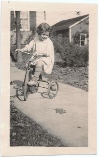 autumn tricyclist