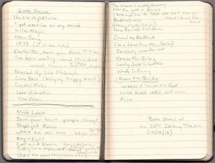 josh-rouse-nick-lowe-setlist-notes