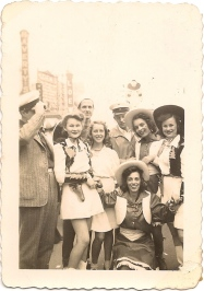 cowgirls at mardi gras (2/25/41)